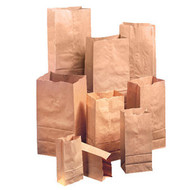 PAPER BAGS - 12LBS, HEAVY DUTY, 7X4.5X13.75, 500/BDL