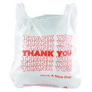 "Plastic Bags - w/handles - ""Thank You"" - T-SHIRT BAG*"