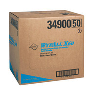 WypAll X60 Hydroknit Wipers, Flat Sheets