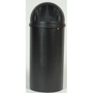 Container - 25gal round w/lid - black - RM8170-06*