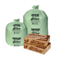 Can Liners - low density - green - 33 gallon - PITBS33G