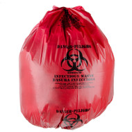 Can Liners - low density - red isolation - 33 gallon - PITG3900XR