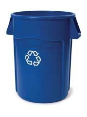Container - Rubbermaid Brute - 32 gal recycle - RM2632-06*