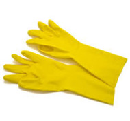 Gloves - Yellow Flock Lined - small - HL801(S)*