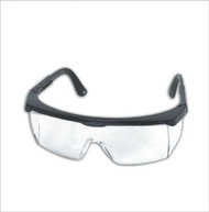 Safety Spectacles - black frame w/clear lens - 49GB80*