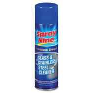 GLASS & STAINLESS STEEL CLEANER, 19OZ, 12/CS