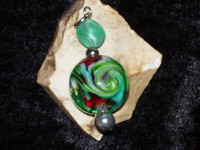 Swirled Pendant with YOUTHFUL DREAMS FAIRY