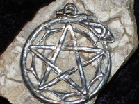 Ouroboros Pendant with WITCH'S MOON SPELL