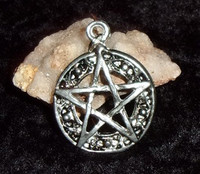Pewter Pentagram Pendant with WITCH'S MOON SPELL