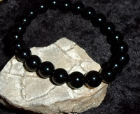 Onyx Bracelet with BLACK DRAGON