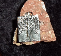 Pewter Pendant with FOUR ELEMENTS DJINN