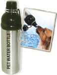 Pet Water Bottle (24 oz) SS & BLACK, Case of 24