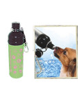 Pet Water Bottle - GREEN PAWS (24 oz), Case of 24
