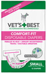 Comfort-Fit Disposable Female Diapers SM (12 Pack)