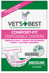 Comfort-Fit Disposable Female Diapers MED (12 Pack)