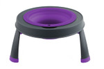 Single Elevated Pet Bowl - Small Purple