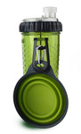 Snack-DuO Bottle with Companion Cup - Green