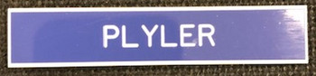U. S. Air Force regulation military plastic nameplate blue. Call if expedited service is required. Ships within 48 hours  when ordered by noon Eastern Time.