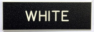 "Army Standard Service Uniform Nameplate.  1"" by 3"" Black with White Letters.  Surface is Coarse to Reduce Scratches.  Also the Standard Nameplate for the United States Navy.  Highest Quality Available in the Marketplace.  Blanks are Manufactured by Gravotech, Inc. formerly New Hermes, Inc.  This Nameplate can be used for other than Military Applications.  Fasteners such as Magnet, Standard Military Clutch, Pins and Bulldog Clips are available."