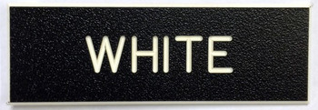 """Ships within 48 hours when ordered by noon Eastern Time.  Army Standard Service Uniform Nameplate.  1"""" by 3"""" Black with White Letters.  Surface is Coarse to Reduce Scratches.  Also the Standard Nameplate for the United States Navy.  Highest Quality Available in the Marketplace.  Blanks are Manufactured by Gravotech, Inc. formerly New Hermes, Inc.  This Nameplate can be used for other than Military Applications.  Fasteners such as Magnet, Standard Military Clutch, Pins and Bulldog Clips are available."""