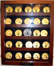 Coin Display Case Wall Walnut