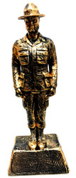 """BROZETONE 17-3/4"""" TALL DRILL SERGEANT STATUE WITH BASE.  ENGRAVING AREA IS 5""""W X 2""""H"""