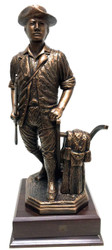 """AWESOME 16"""" TALL HIGHLY DETAILED MINUTEMAN STATUE MOUNTED ON A 7""""W X 7""""L X 2"""" HIGH BASE."""