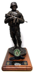 Mission Ready Military Soldier Statue