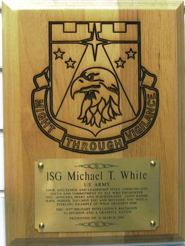 Military Plaque Laser Engraved 742nd Mi Bn Mai S Jewelry