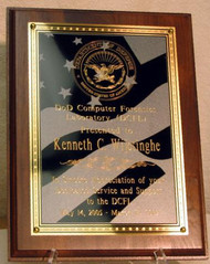 Military Plaque with US Flag Plate DCFL