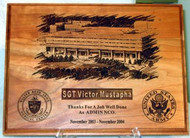 Military Plaque Laser Engraved Walter Reed Old Building Large