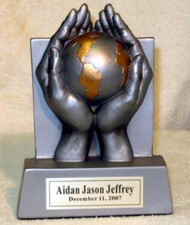 "6"" tall World of Thanks resin award"