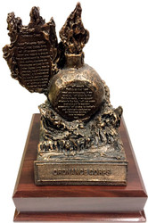 Ordnance Award with Army Ordnance Creed Military Statue
