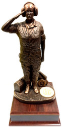 Flight Line Maintainer Female Small Military Statue