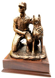 Army Dog Handler Male  Military Statue K9