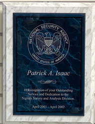 NSA Military Recognition Plaque 912