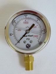 Seal Fast G253001PS Pressure Gauge 300 PSI