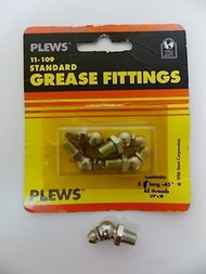 Plews 11-109 Standard Grease Fittings (5-pack)