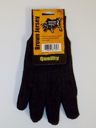 Brahma Quality Brown Jersey Glove  WA7530A