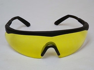 Safety Glasses Amber Lens Black Frame #50067