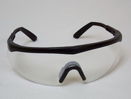 Safety Glasses Clear Lens Black Frames #50064