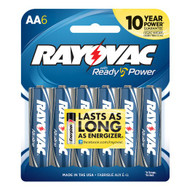 Rayovac Alkaline AA Batteries, 6 Pack
