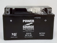 Power Source WP7A-BS, Motorcycle Battery, 12v 6Ah