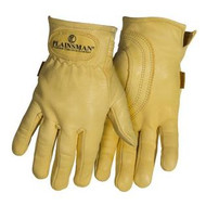 Plainsman Premium Cabretta Leather Gloves, Medium
