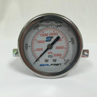 Seal Fast G2550002PSU Pressure Gauge 5,000 PSI