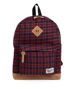 Checker Backpack - Red