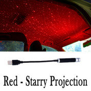 Plug and Play - Car and Home Ceiling Romantic USB Night Light -RED