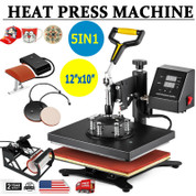 5 in 1 Combo 12x10 Heat Press Machine