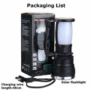 Portable LED Solar Powered Flashlight