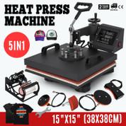 5in1 Combo 15x15 Heat Press Machine